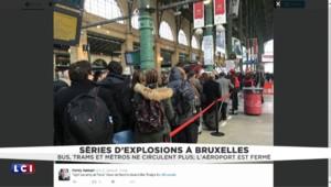 Explosions à Bruxelles : les contrôles de sécurité renforcés en Gare du Nord à Paris