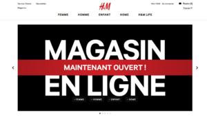 Ouverture du magasin en ligne H&M, le 13 mars.