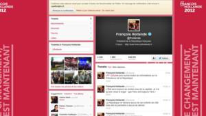 Capture écran du compte twitter de François Hollande