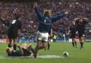 Demi-finale de la Coupe du monde 1999 de rugby : essai de la France face à la Nouvelle-Zélande