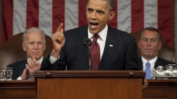 Barack Obama devant le Congrès, le 24 janvier 2012.
