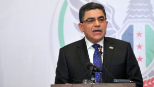 """Ghassan Hitto, """"Premier ministre"""" de l'opposition syrienne, le 19/3/13"""