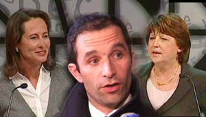 Ségolène Royal, Benoît Hamon, Martine Aubry à Reims (montage photo - 16 novembre 2008)