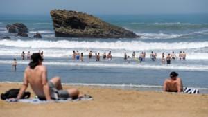Une plage de Biarritz