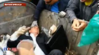 En Ukraine, un député... jeté à la poubelle !