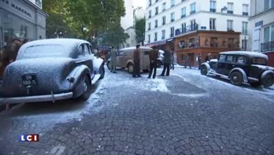"""""""Un sac de billes"""" : en plein été, la neige s'invite sur le tournage dans les rues de Paris"""