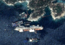Le Costa Concordia le 12 juillet 2013. Images prises par le satellite très haute résolution Pléiades, réalisé et opéré par Astrium.