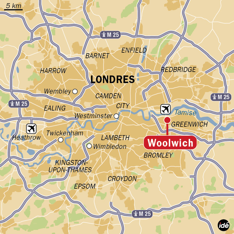 Le quartier de Woolwich à Londres