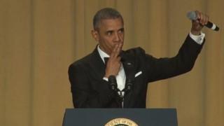 """Dîner des correspondants : """"Obama c'est fini"""", le président lâche le micro une dernière fois"""