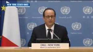 Le 20 heures du 23 septembre 2014 : Fran�s Hollande �'ONU - 380.81942565917956