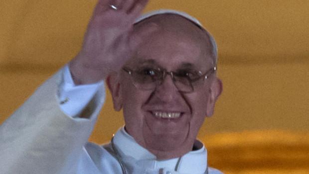 Le pape François après son élection, 13/3/13