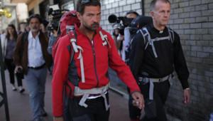Le père Patrice Gourrier a accompagné Jérôme Kerviel dans sa dernière semaine de marche.