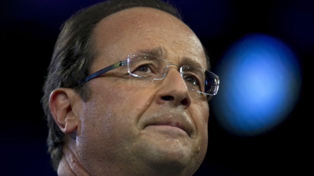 François Hollande le 22 janvier 2012 au Bourget