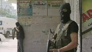 TF1/LCI : Combattants palestiniens dans les rues de Gaza (15 mai 2007)