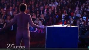 Homme nu aux Molières le 27 avril 2015.