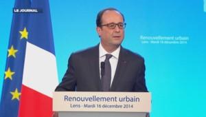 François Hollande en déplacement à Lens, mardi 16 décembre 2014.