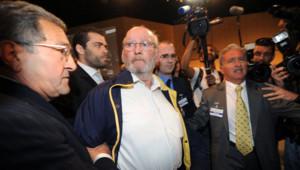 Jean-Claude Mas, le fondateur de la société varoise PIP, au coeur du procès des prothèses mammaires frauduleuses, au début de procès