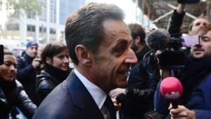 Nicolas Sarkozy à son arrivée à un hôtel new-yorkais le 11 octobre 2012.
