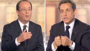Sarkozy/Hollande : les temps forts du débat en images