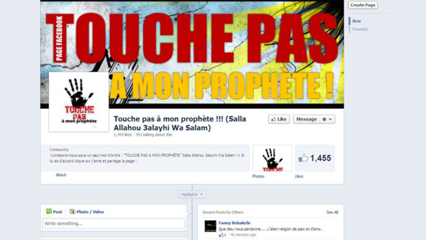 Touche pas  mon prophte, slogan de SOS racisme dtourn sur Facebook