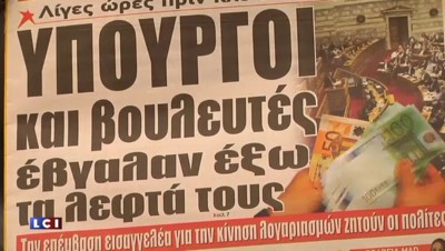 Crise en Grèce : à Athènes, les retraités se pressent dans les banques