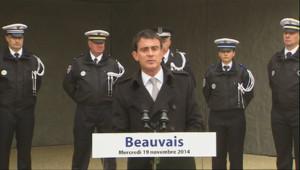 """Le 13 heures du 19 novembre 2014 : Valls : """"Il y a trop de mise en cause de la police et de la gendarmerie"""" - 1033.751"""