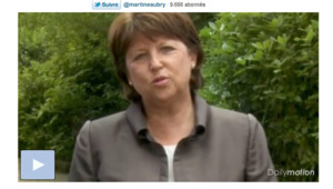 Message vidéo de Martine Aubry (14 juillet 2011)