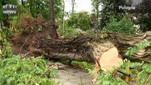 Toitures arrachées, arbres déracinés… De violents orages traversent l'Europe