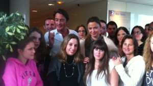 Sandrine et Vincent ont rencontr les fans de Danse avec les Stars