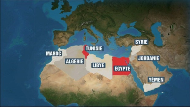 Monde arabe : qui bouge ? qui reste calme ?