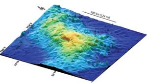 """Le """"Massif Tamu"""", volcan de 450 km sur 650 km tapi sous le Pacifique / Image de Texas A&M University"""