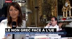 """Dette de la Grèce : Merkel à l'Élysée, Hollande """"a un rôle majeur à jouer"""" dans ce dossier"""