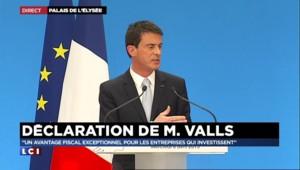 """Manuel Valls : """"Le dialogue social est notre méthode"""""""