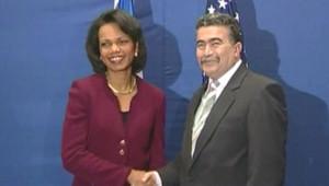TF1/LCI - Condoleezza Rice à son arrivée à Jérusalem, le 13 janvier 2007