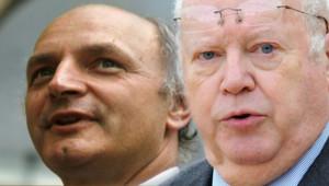 Didier Migaud (à gauche) ; Michel Charasse (à droite) - montage