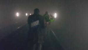 Metro Bruxelles évacuation voyageurs seuls