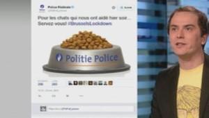 Police Belgique chats croquettes