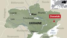 Ukraine : carte de localisation de Donetsk