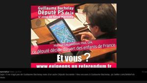Capture écran d'un tweet envoyé par le député UMP Marc Le Fur d'un député en train de jouer au scrabble sur sa tablette en plein débat sur le mariage gay