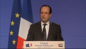 "Hollande parle de ""la mission de la France"" au Mali"