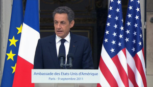 Nicolas Sarkozy le 9 septembre 2011.