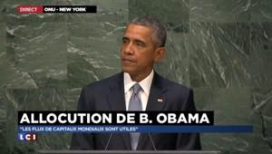 """ONU : Obama dénonce les puissances """"en contravention avec le droit international"""""""