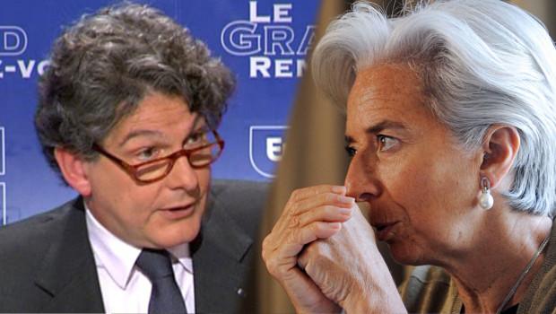 Thierry Breton et Christine Lagarde, anciens ministres de l'Economie.
