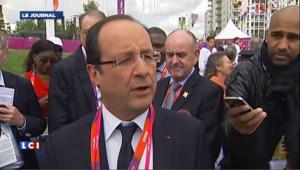 Hollande à Londres : « ma présence n'est pas liée à des médailles »