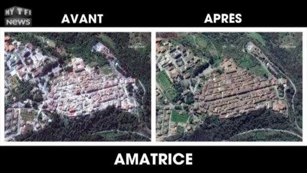 Séisme en Italie : avant-après, les images satellites d'Amatrice et de Pescara del Tronto