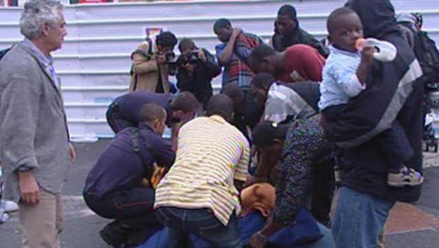 """L'évacuation du campement des """"ex-squatters"""" de Cachan"""