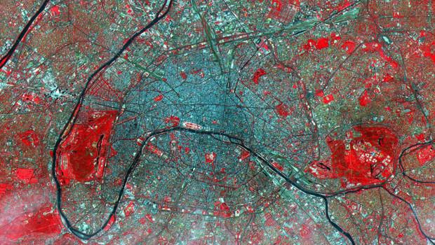 Paris en vue satellite Nasa - Aster