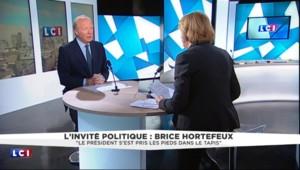 """Pour Hortefeux, Taubira """"a permis de souligner que Hollande fait preuve d'une grande faiblesse"""""""