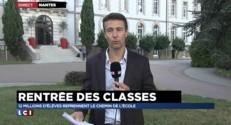 """Rentrée scolaire : """"C'est encore calme"""" devant un collège-lycée de Nantes"""