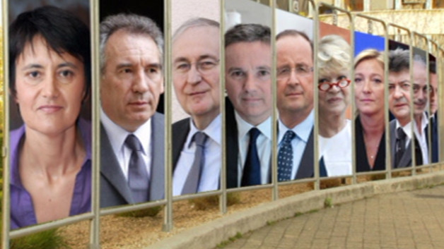 Les 10 candidats à la présidentielle de 2012